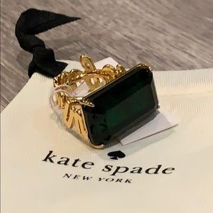 Kate spade emerald what a gem ring free size